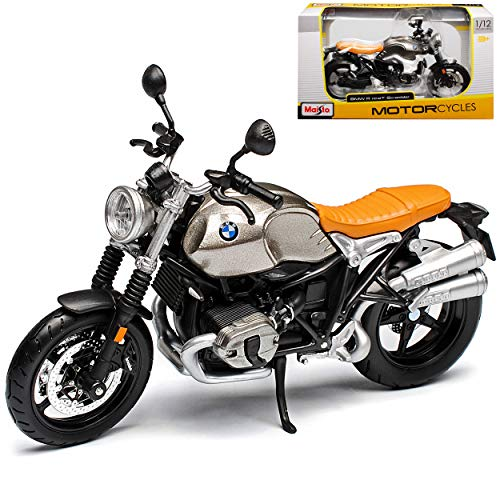 B-M-W R NineT Scrambler Grau Ab 2016 1/12 Maisto Modell Motorrad