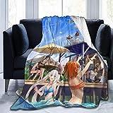 Gypsophila Anime Beauty Party-Decke, superweich, Samt, warm, flauschig, pflegeleicht, für alle Jahreszeiten, mehrfarbig, Größe: 127 x 102 cm