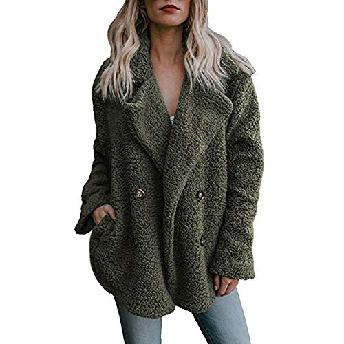 MRULIC Damen Jacke Faux Pelz Warm Kunstfigur Langarm Kurzmantel Felljacke Tops Frauen Casual Winter Wärme Parka Outwear