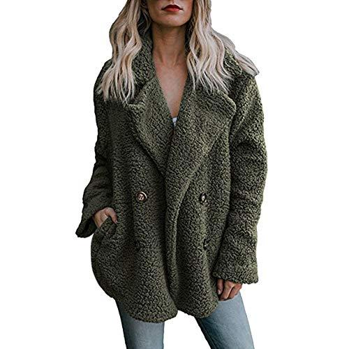 Chaqueta De Invierno para Mujer Casual Abrigo de Lana Outwear Parka Cardigan...