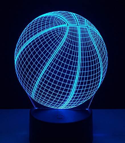 Cambio de color led decoración fresca baloncesto LED luz nocturna figura de acción táctil luz de mesita de noche inteligente