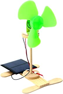 Perfeclan Physical Discovery DIY Solar Powered Electric Fans Model Kids Science Toys