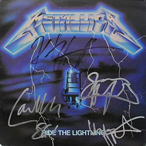 Official - Metallica (Ride The Lightning) 1984 Signed Reprint Album Cover Poster (12'x12')