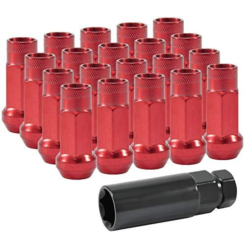 dpPerformance Lug Nuts Stahl M12x1,5 Radmuttern Rot JDM