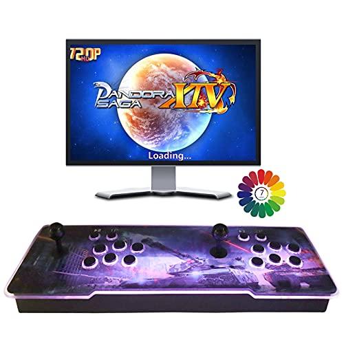 Consola de Juegos Retro Arcade 3D Pandora 8000 Retro HD Games Arcade Games Machines, Retro Video Games All in One, el Sistema más Nuevo Compatible con HDMI y VGA
