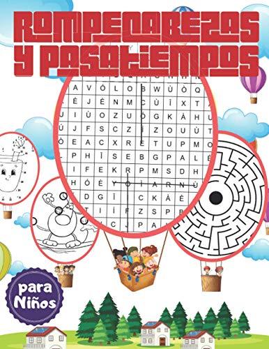 Rompecabezas y Pasatiempos para Niños: Juegos educativos, Encuentra las diferencias, Sopa de letras, Encuentra el intruso, Desafío laberintos y unir los puntos.
