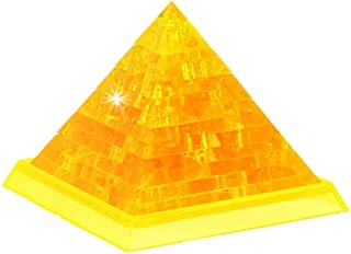Weite 3D Crystal Puzzle, [Non-Toxic] [42-Pieces] Pretty Pyramid Decoration Model DIY Gadget Blocks Building Toy Gift (A)
