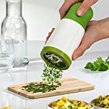 Gotian Helpful New Herb Grinder Spice Mill Parsley Shredder Chopper Fruit Vegetable Cutter ~ ABS+PC+ Stainless steel ~ Healthy and Durable