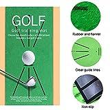 RUIZHUO Alfombrilla de golf, portátil de entrenamiento de golf para detección de columpios, mini golf, práctica de entrenamiento, regalo para casa, oficina, uso al aire libre