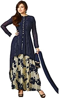 Neelkanth Women's Georgette Women'S Clothing Semi Stitched Dress Material