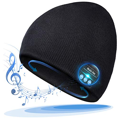 Bluetooth Beanie, Bluetooth Hat Mens Gifts, Stocking Stuffers for Men Hats with Bluetooth Headphones, Bluetooth Winter Hat, Fashion Music Hat for Outdoor Sports, Christmas Xmas Gifts for Men Women