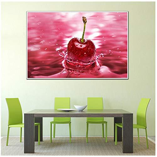 Opknoping Wall Art Snoepjes Koffieboon Fruit Eten Schilderen Drank Poster Keuken Canvas Schilderij Woonkamer Cuadros Wanddecoratie -40x60cm Geen lijst