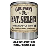 g-select 車輌塗装用1液ウレタン艶消し塗料「MAT.SELECT」刷毛・ローラー塗装可能 レトロカラー 【R-1】ビンテージグリーン 500g缶