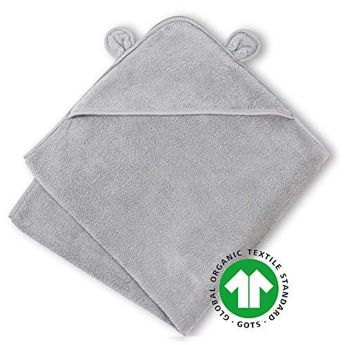 Natemia Bio Kapuzen-Babyhandtuch - Ultra weich und saugfähig GOTS zertifizierte türkische Baumwolle Kapuzenbadetuch für Babys, Kleinkinder - Made in Turkey