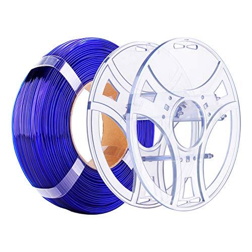 eSUN Kit de Recarga PETG y eSpool, Carrete de Filamento Reutilizable y Extraíble para Impresora 3D Recarga de Filamento PETG 1.75mm, 1KG Filamento de Impresión 3D, Azul