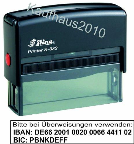 IBAN-Stempel Printer Shiny S-832 von Kaufhaus2010