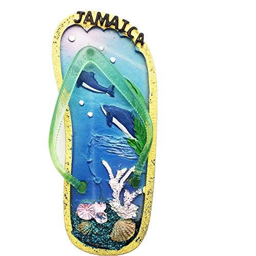 3D-Kühlschrankmagnet, Flip-Flop-Stil, Jamaika-Kühlschrankmagnet, Souvenir, Geschenk, Heimküche, Dekoration, Kühlschrank, magnetische Aufkleber-Kollektion