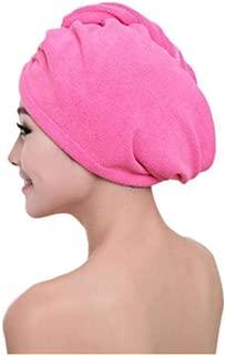 Yangfeng Magic Hair Drying Towel Hat Microfibre Quick Dry Turban For Bath Shower Pool Machine Washable Cap B- Quick-drying towel