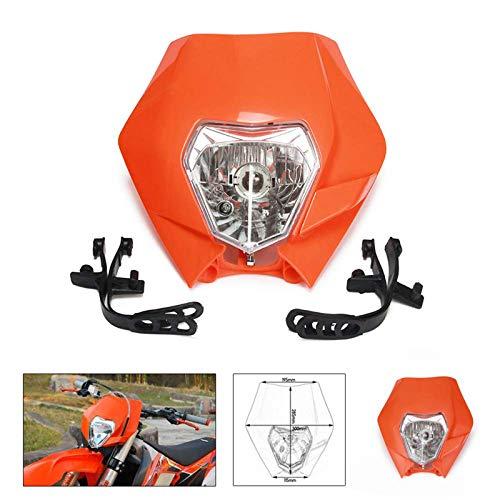 AnXin - Faros delanteros universales con carenado para calle, máscara de luchador, luz de día para correr, luces de señal para motocicletas, motos, enduro, ATV, scooters, Dirt Pit Bike Enduro