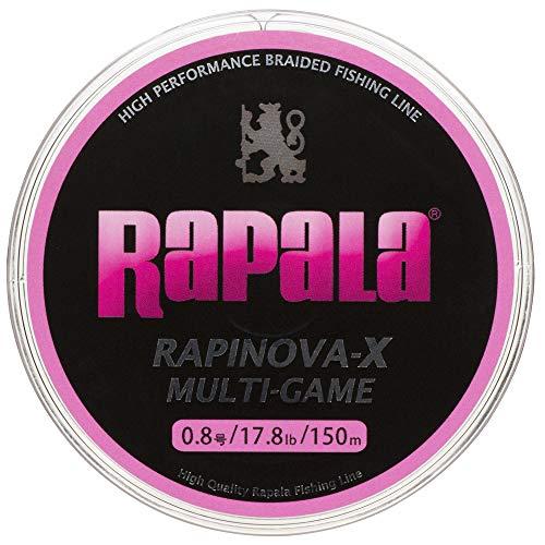 ラパラ PEライン ラピノヴァX マルチゲーム 150m 0.8号 17.8lb 4本編み ピンク RLX150M08PK