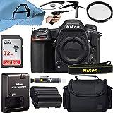 Corpo de câmera Nikon D500 DSLR Sensor de 20,9 MP com cartão de memória SanDisk de 32 GB, estojo, tripé e pacote de acessórios de célula A (preto)