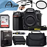 Nikon D500 DSLR Camera Body 20.9MP Sensor with SanDisk 32GB Memory Card, Case, Tripod and A-Cell Accessory Bundle (Black)
