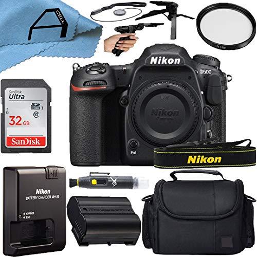 Nikon intl D500 DSLR Camera Body 20.9MP Sensor with SanDisk 32GB Memory...