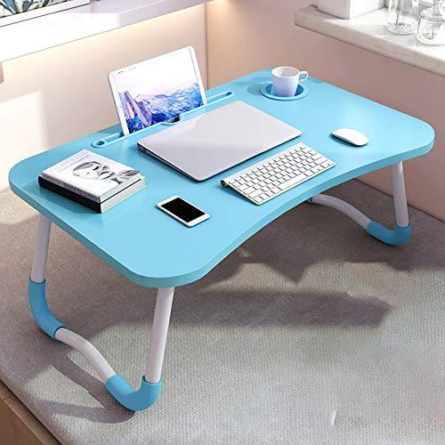 GZH Mesa De Cama Plegable para Computadora Portátil, Escritorio Portátil con Ranura para Cama Y Sofá, Mesa De Comedor Mesa Plegable, Escritorio para Mirar Películas En La Mesa