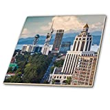 3dRose Georgia, Batumi. View of city skyline. - Tiles (ct_343222_7)