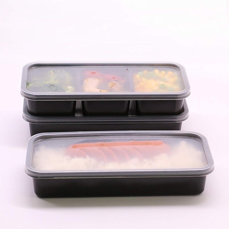 Bol - Lunch Box rectangulaire en plastique noir jetable - Boîte d'emballage de nouilles de riz séparées tableware (Couleur   A)