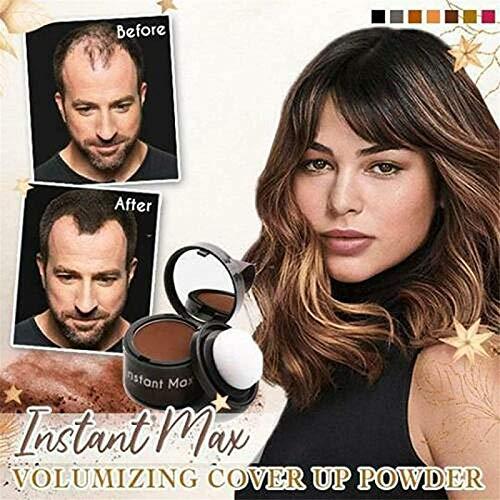 Instant Max Volumizing Cover Up Poeder, 2 STUKS Volume Up Haarstyling Poeder, Waterbestendig Magisch Pluizig Dun Haar Poeder Haarlijn Shadow Makeup Haar Concealer (Grijs)
