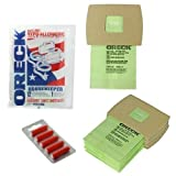 Oreck Canister Handheld Vacuum Cleaner Bags And 5 Fresheners Pack Of 12