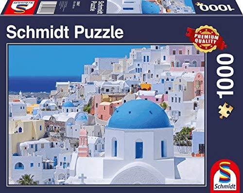Schmidt Spiele 58947 Santorini - Puzzle de 1000 Piezas, diseño de Islas Cicladias, Multicolor