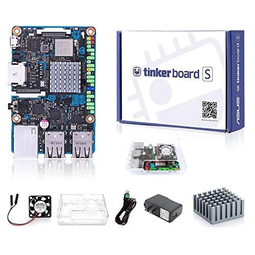 youyeetoo ASUS Tinkerboard S + Acrylgehäuse SBC RK3288 SoC 1,8 GHz Quad Core CPU, 600 MHz Mali-T764 GPU, 2 GB LPDDR3 & 16 GB eMMC Entwicklung TinkerboardS