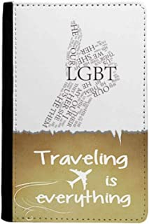 LGBT Rainbow Flag Great Traveling quato Passport Holder Travel Wallet Cover Case Card Purse