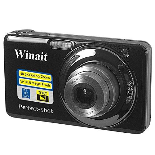 Why Should You Buy Winait V600 Digital Compact Camera (15 MP, 5X Optical Zoom) - Black