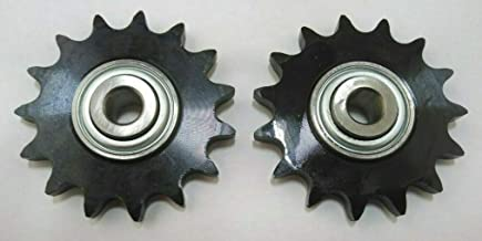 proven part Set of Two Roller Chain Idler Sprockets 1/2 Inch Bore Outside Diameter 3.17 Inches Replaces 126-9108 126-9274 116-6719