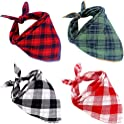 4-Pack Mihachi Plaid Dog Bandanas