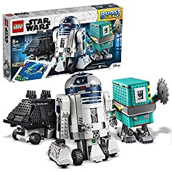 This buildable robot toy puts your child in command of 3 buildable, app-controlled Star Wars LEGO droids: R2-D2, Gonk Droid and Mouse Droid Kids can use the intuitive BOOST drag-and-drop coding app to give each droid their own personalities and skill...