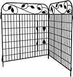 Amagabeli Decorative Garden Fence Coated Metal Outdoor Rustproof 44in x 6ft Landscape...