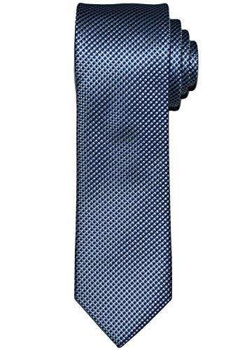 OLYMP Krawatte regular aus reiner Seide mit Nano-Effekt Struktur blau