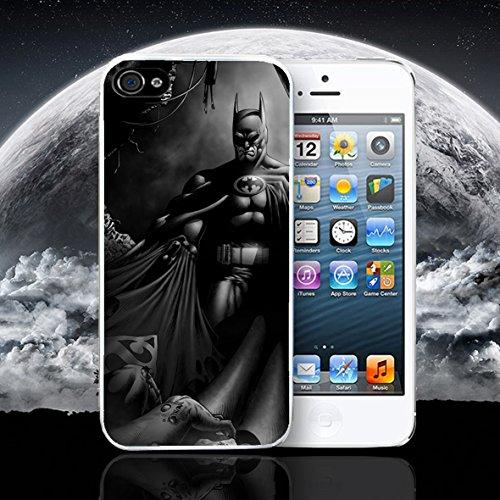 PHONE BOX Batman Superman Super Hero de cómic Marvel DC Apple iPhone Caso Funda Compatible con iPhone 6–6S Blanco Funda