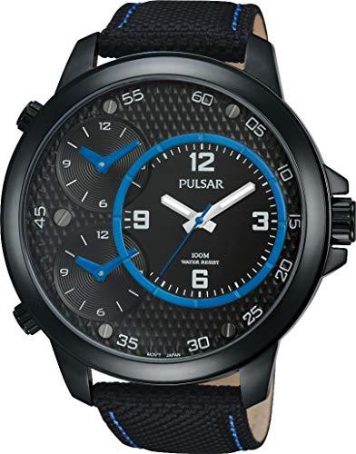 Pulsar Herren-Armbanduhr XL Pulsar X Analog Quarz Leder PX8009X1