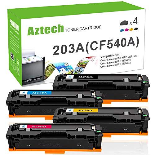LEMERO CF540X 203X XL Cartouche de Toner Compatible pour HP Color Laserjet Pro M254dw M254nw MFP M281FDN M281FDW M280NW Imprimante,Noir