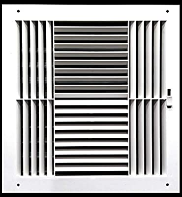 Never Rust Plastic Air Supply Register - HVAC Vent Duct Grille - Off White