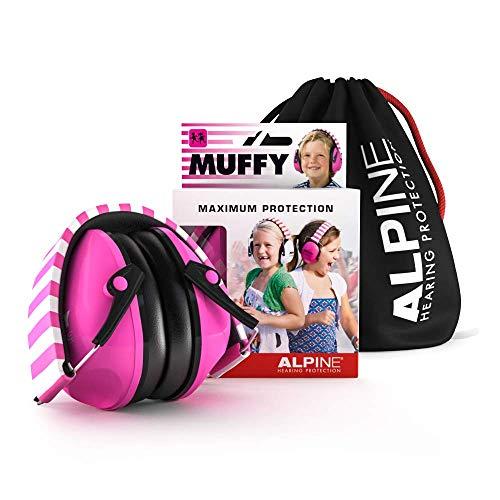 Alpine Muffy Kinder Kapselgehörschützer - Gehörschutz für Kinder ab 2 Jahren - Lärmschutz Verhindert Gehörschäden - Robust und einfach zu verstauen - Bequeme Passform - Rosa