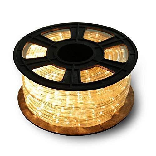 30m 720 LED Lichterschlauch Lichtschlauch warm-weiß – Innen- und Außenbereich – energiesparende Leucht-Dekoration für Garten Fest Weihnachten Hochzeit