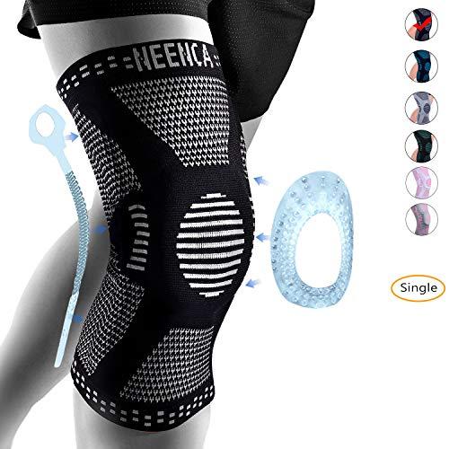 NEENCA Professional Knee BraceKnee Compression Sleeve Support for Men WomenMedical Grade Knee Protector for RunningMeniscus TearArthritisJoint Pain Relief Black XXLarge