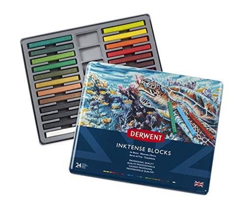Derwent Inktense Ink Blocks, 24 Count (2300443)