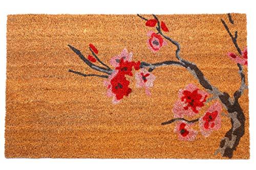 FAB HAB Cherry Branch Felpudos 46 cm x 76 cm Natural Rubber, Anti-Deslizante, Durable